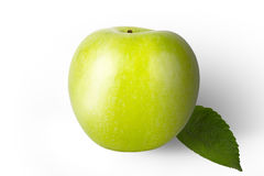 Fresh green apple isolated on a white background Royalty Free Stock Image