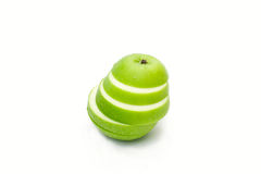 Fresh green apple  slice Royalty Free Stock Photo