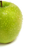 Fresh green apple with water drops Stock Image