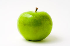 Fresh Green Apple on White Stock Photo