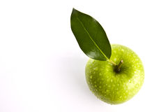 Fresh Green Apple on white background Royalty Free Stock Photography
