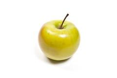 Fresh green apple on a white background Royalty Free Stock Photos