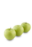Fresh green apples. On white background Stock Photo