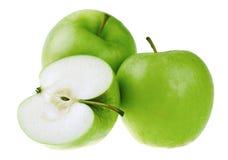 Fresh green apples Stock Images