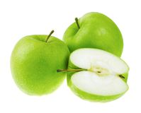 Fresh Green Apples Stock Photos