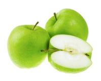 Fresh green apples Stock Photos