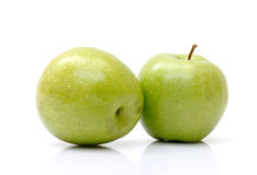 Fresh green apples Royalty Free Stock Images