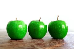 Fresh green apples. Royalty Free Stock Photos