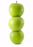 Fresh green apples Royalty Free Stock Photos