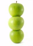 Fresh green apples royalty free stock photos