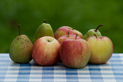 Fresh Green Apples And Pears Royalty Free Stock Photo