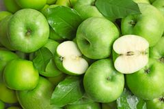 Fresh green apples. As background Stock Photography