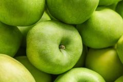 Fresh green apples, closeup. Fresh green apples, close up Stock Photography