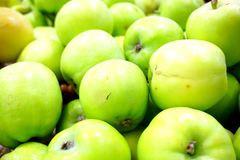 Fresh green apples. In the image, there are some green apples Stock Image