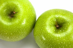 Fresh green apples Stock Image