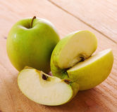 Fresh green apples . Stock Image