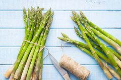 Fresh green asparagus. Stock Images