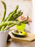 Fresh green asparagus Stock Image