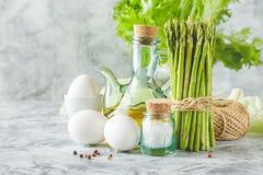 Fresh green asparagus stock image
