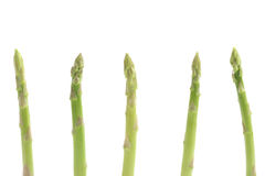 Fresh Green asparagus isolated in white background Stock Image