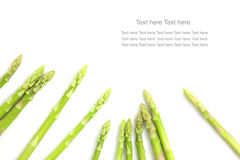 Fresh Green asparagus isolated in white background Royalty Free Stock Photos