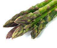 Fresh green asparagus isolated on white background royalty free stock image