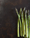 Fresh Green Asparagus. Asparagus. Selective Focus. Space for Text Stock Images
