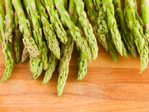 Green asparagus sprouts close up Stock Photo
