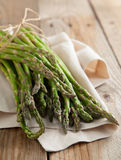 Fresh green asparagus sprouts Royalty Free Stock Photography