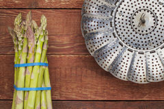 Fresh green asparagus Stock Photography