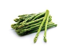 Fresh green asparagus. On white Stock Photo