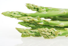 Fresh green asparagus on white Stock Image