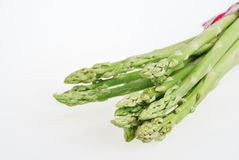 Fresh green asparagus on white Stock Photography