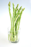 Fresh green asparagus on white Royalty Free Stock Image