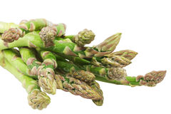 Fresh green asparagus on white background Stock Photography