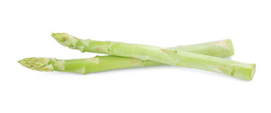 Fresh green asparagus on white background Royalty Free Stock Images