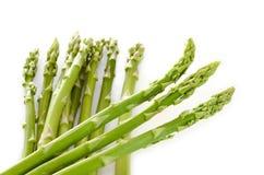Fresh green asparagus on white background. Fresh green asparagus on isolate white background Royalty Free Stock Photo