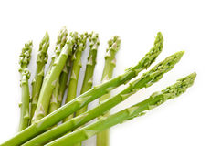 Fresh green asparagus on white background Royalty Free Stock Photo