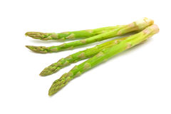 Fresh green asparagus on white background Royalty Free Stock Photography