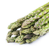 Fresh green asparagus on white Royalty Free Stock Images