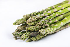 Fresh green asparagus on white Royalty Free Stock Photography