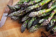 Fresh green asparagus Stock Photos