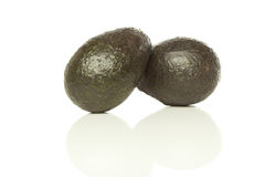 A fresh green avacado. Against a white background Stock Image