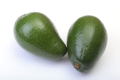 Fresh, green Avocado isolated on a white background. Royalty Free Stock Photography