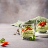 Fresh green avocado mousse Royalty Free Stock Photo