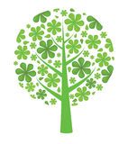 Fresh green background. Leaf tree. Vector Royalty Free Stock Photography