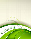 Fresh green background template Stock Images