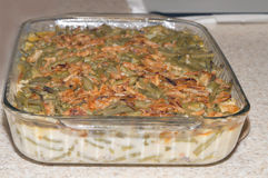 Fresh green bean casserole Royalty Free Stock Photography
