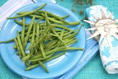 Fresh green beans Stock Image
