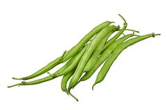 Fresh green beans. Group of fresh green beans isolated on white background stock images